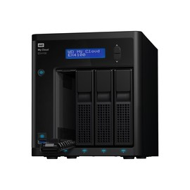 WD My Cloud EX4100 WDBWZE0160KBK - NAS-Server - 4 Schächte - 16 TB - HDD 4 TB x 4 - RAID 0, 1, 5, 10, JBOD, 5 Hot Produktbild
