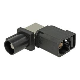 DeLOCK - Antennenadapter - FAKRA A-Stecker (W) gewinkelt bis FAKRA A-Stecker (S) - Jet Black, RAL 9005 Produktbild