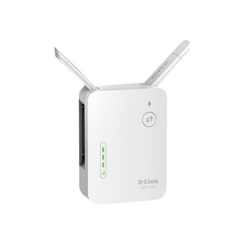 D-Link DAP-1330 N300 Wi Fi Range Extender - Wi-Fi-Range-Extender - 100Mb LAN - Wi-Fi - 2.4 GHz Produktbild