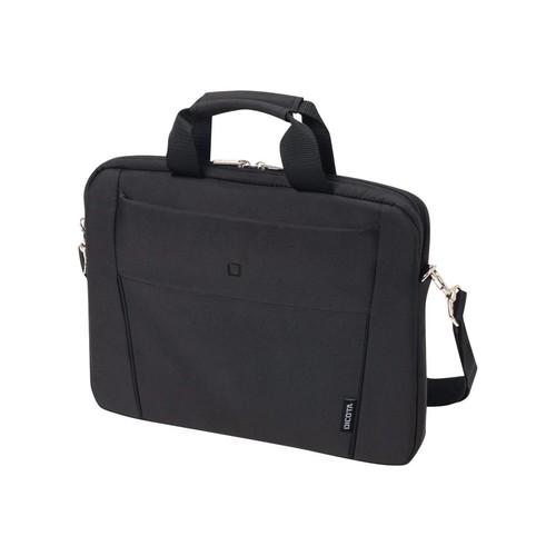 Dicota Slim Case BASE - Notebook-Tasche - 31.8 cm - Schwarz Produktbild Front View L