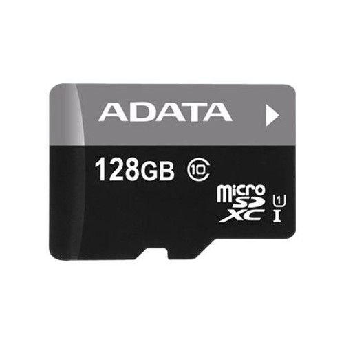 ADATA Premier - Flash-Speicherkarte (microSDXC-an-SD-Adapter inbegriffen) - 128 GB - UHS Class 1 / Class10 - Produktbild Front View L