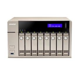 QNAP TVS-863 Turbo NAS - NAS-Server - 8 Schächte - SATA 6Gb/s - RAID 0, 1, 5, 6, 10, JBOD, 5 Hot Spare, 6 Hot Spare, Produktbild