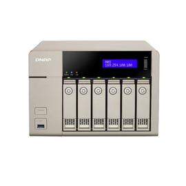 QNAP TVS-663 Turbo NAS - NAS-Server - 6 Schächte - SATA 6Gb/s - RAID 0, 1, 5, 6, 10, 5 Hot Spare, 6 Hot Spare, Produktbild