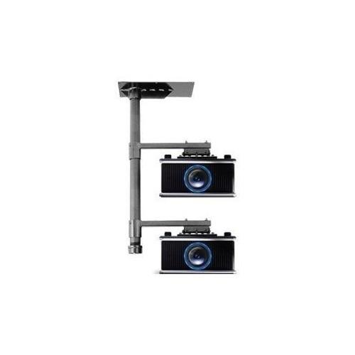 InFocus Projector Stacker Ceiling Mount - Montagekomponente (Deckenmontage, 2 Montagearme) für Projektor (neig- und Produktbild Front View L