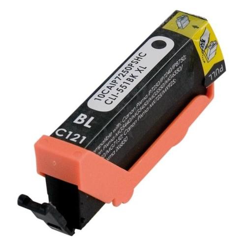 Tintenpatrone (CLI-551BKXL) für Pixma IP7250/MG5450 12ml schwarz BestStandard Produktbild Front View L