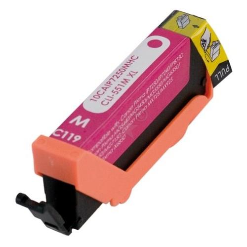 Tintenpatrone (CLI-551MXL) für Pixma IP7250/MG5450 12ml magenta BestStandard Produktbild Front View L