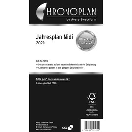 Jahresplan 2020 für Organizer Midi 96x172mm Chronoplan 50500 Produktbild
