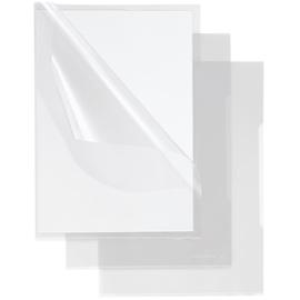 Sichthüllen oben + rechts offen A4 140µ transparent PP genarbt Soennecken 1609 (PACK=50 STÜCK) Produktbild