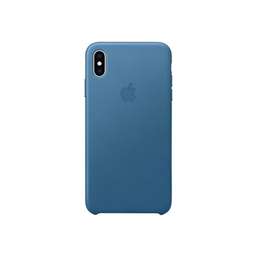 Apple - Hintere Abdeckung für Mobiltelefon - Leder - cape cod blue - für iPhone Xs Max Produktbild Front View L