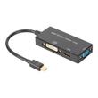 DIGITUS - Videokonverter - DisplayPort - DVI, HDMI, VGA - Schwarz Produktbild