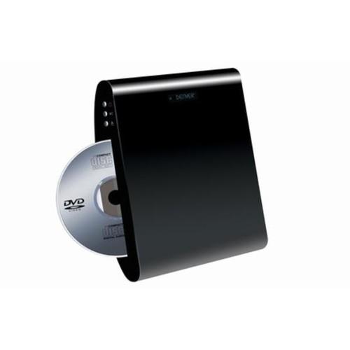 DENVER DWM-100USB - DVD-Player - Hochskalierung - Wandmontage möglich - Schwarz Produktbild Additional View 1 L
