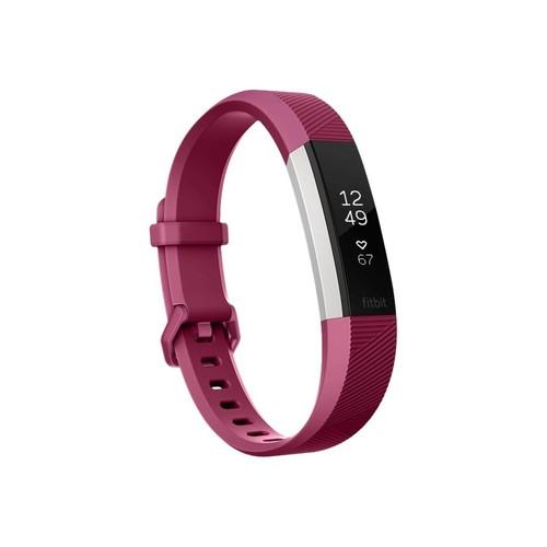 Fitbit Alta HR - Edelstahl - Aktivitätsmesser mit Band - Fuchsie - L - einfarbig Produktbild Front View L