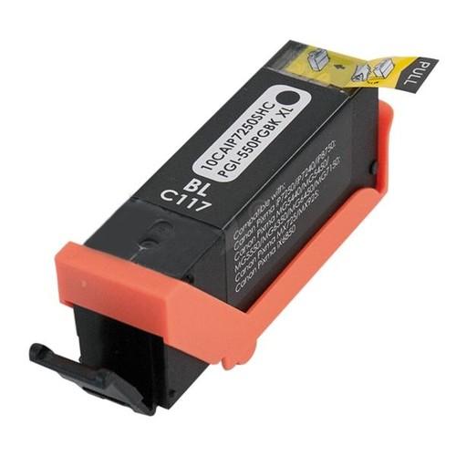 Tintenpatrone (PGI-550PGBKXL) für Pixma IP7250/MG5450 520Seiten pigment schwarz BestStandard Produktbild Front View L