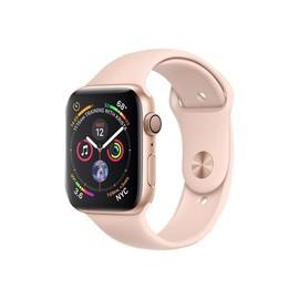 Apple Watch Series 4 (GPS) - 44 mm - Gold Aluminium - intelligente Uhr mit Sportband - Flouroelastomer - rosa Produktbild