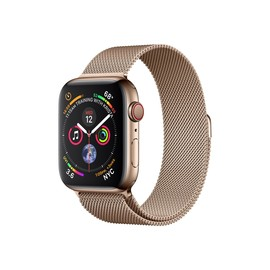 APPLE Watch Series4 GPS+Cellular 44mm Gold Stainless Steel Case with Gold Milanese Loop Produktbild