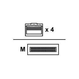 Mellanox LinkX Passive Copper Hybrid ETH - Netzwerkkabel - SFP28 (M) bis QSFP28 (M) - 3 m - Produktbild