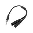 StarTech.com 3,5mm Klinke Audio Y-Kabel - 4 pol. auf 3 pol. Headset Adapter für Headsets mit Kopfhörer / Microphone Produktbild