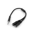 StarTech.com 3,5mm Klinke Audio Y-Kabel - 4 pol. auf 3 pol. Headset Adapter für Headsets mit Kopfhörer / Microphone Produktbild Additional View 1 S