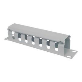 """Intellinet 10"""" Cable Management Panel - Kabelführungsplatte für Schaltschrank - Grau, RAL 7035 - 1U - 25.4 cm (10"""") Produktbild"""