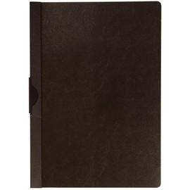 Klemmmappe A4 mit Metallclip bis 30 Blatt transparent/schwarz PVC BestStandard KF00459 Produktbild