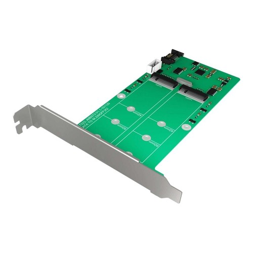RaidSonic ICY BOX IB-CVB513 - Schnittstellenadapter - M.2 - M.2 Card - 6 GBps - SATA 6Gb/s Produktbild Front View L