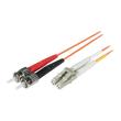 C2G Low-Smoke Zero-Halogen - Patch-Kabel - LC Multi-Mode (M) bis ST multi-mode (M) - 2 m - Glasfaser - Produktbild