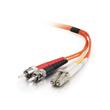 C2G Low-Smoke Zero-Halogen - Patch-Kabel - LC Multi-Mode (M) bis ST multi-mode (M) - 2 m - Glasfaser - Produktbild Additional View 1 S
