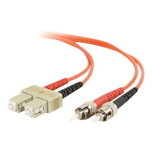 C2G ST-ST 50/125 OM2 Duplex Multimode PVC Fiber Optic Cable (LSZH) - Patch-Kabel - ST multi-mode (M) bis ST Produktbild