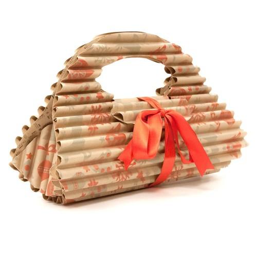Geschenkverpackung riAlto bag 565x576x10mm Kraftpapier braun Produktbild Front View L