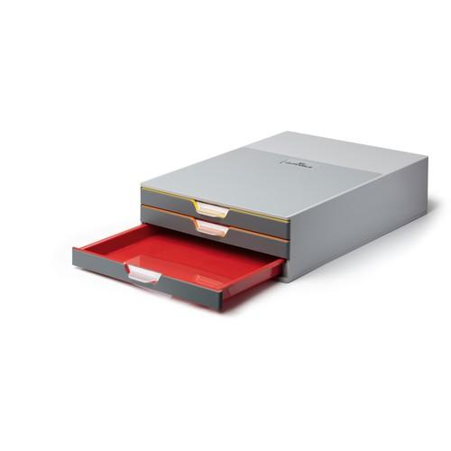 Schubladenbox Varicolor 3 Schübe 280x95x356mm 3-farbig Durable 7603-27 Produktbild Front View L