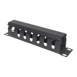 """Intellinet - Kabelmanagement - Rack montierbar - Schwarz, RAL 9005 - 1U - 25.4 cm (10"""") Produktbild"""