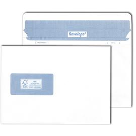 Briefumschlag REVELOPE mit Fenster weiß C5 / Offset 80g Patent Heißleimverschluß ohne Silikonabdeckung (PACK=500 STÜCK) Produktbild