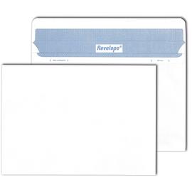 Briefumschlag REVELOPE ohne Fenster weiß C5 / Offset 80g Patent Heißleimverschluß ohne Silikonabdeckung (PACK=500 STÜCK) Produktbild