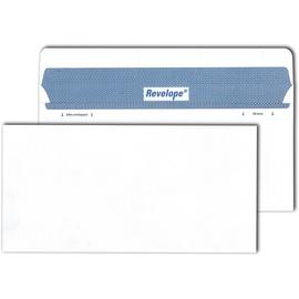Briefumschlag REVELOPE ohne Fenster weiß DIN lang 112x225mm Offset 80g Patent Heißleimverschluss ohne Silikonabdeckung (PACK=500 STÜCK) Produktbild