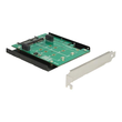 DeLOCK Converter SATA> 2 x M.2 slot with RAID + bracket - Schnittstellenadapter - M.2 - M.2 Card - Produktbild