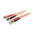 StarTech.com 2m Multimode 62,5/125 Duplex LC auf ST LWL / Glasfaserkabel - Netzwerkkabel - LC Multi-Mode (M) bis ST Produktbild