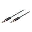 M-CAB - Audiokabel - Mini-Phone Stereo 3,5 mm (M) bis Mini-Phone Stereo 3,5 mm (M) - 3 m - abgeschirmt - Schwarz Produktbild