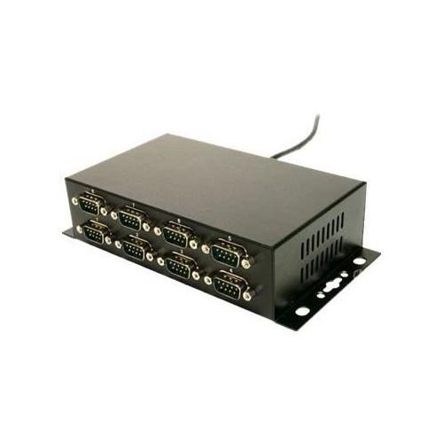 Exsys EX-1338HMV - Serieller Adapter - USB - RS-232 x 8 Produktbild Front View L