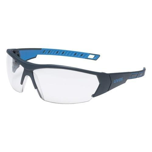 Laborschutzbrille i-works farblos anthrazit/blau UVEX 9194171 Produktbild Front View L