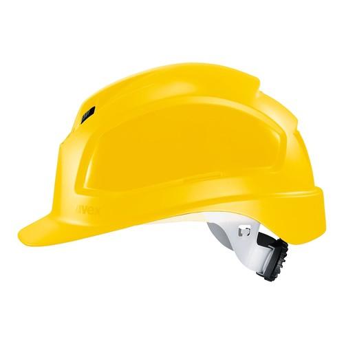Schutzhelm gelb UVEX 9772130 Produktbild Front View L