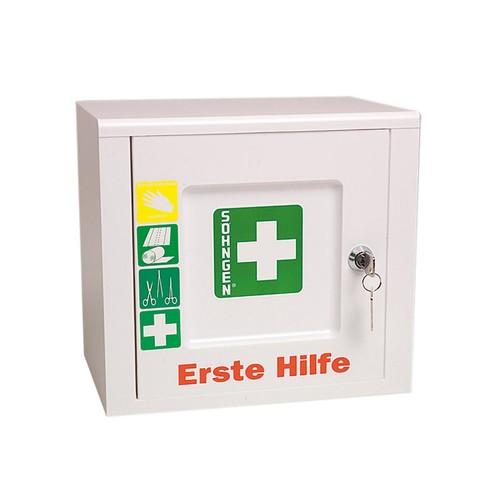 Erste-Hilfe-Verbandschrank PICCOLO 26x24x18cm weiß gefüllt nach DIN 13157 Söhngen 5001024 Produktbild Additional View 1 L