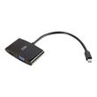 C2G 8in Mini DisplayPort Male to HDMI or VGA Female Adapter Converter - Black - Videoanschluß - DisplayPort / HDMI / Produktbild