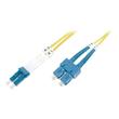 DIGITUS Professional - Patch-Kabel - SC/APC Einzelmodus (M) bis LC/APC Einzelmodus (M) - 10 m - Glasfaser - Produktbild