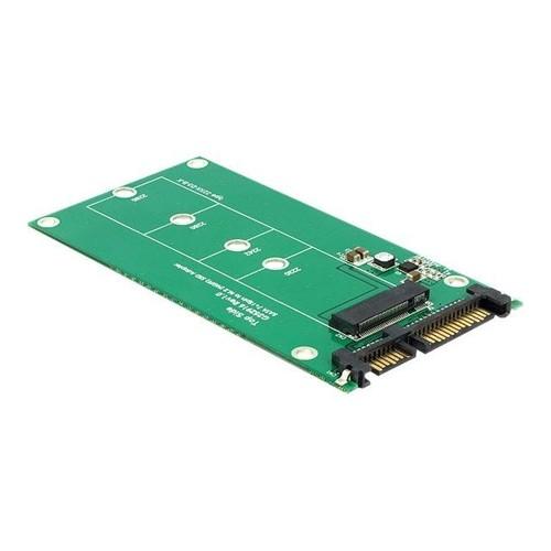DeLOCK Converter SATA 22 pin > M.2 NGFF - SATA-Adapter - SATA Combo bis Key M-Steckplatz, 67-polig Produktbild Front View L