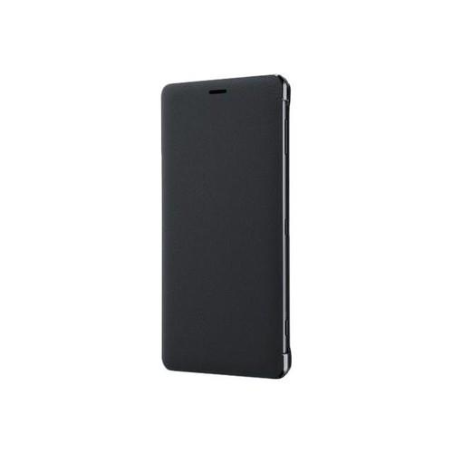 Sony Style Cover Stand SCSH40 - Flip-Hülle für Mobiltelefon - Polycarbonat, PU-Kunstleder - Schwarz - Produktbild Front View L