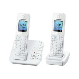 Panasonic KX-TGH222 - Schnurlostelefon - Anrufbeantworter mit Rufnummernanzeige - DECT\GAP - weiß + zusätzliches Handset Produktbild