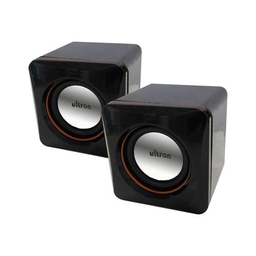 Ultron Aktivboxen minicubes 2.0 - Lautsprecher - für PC - 5 Watt (Gesamt) - Schwarz Produktbild Front View L