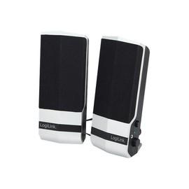 LogiLink - Lautsprecher - für PC - 4.8 Watt (Gesamt) - Schwarz, Silber Produktbild