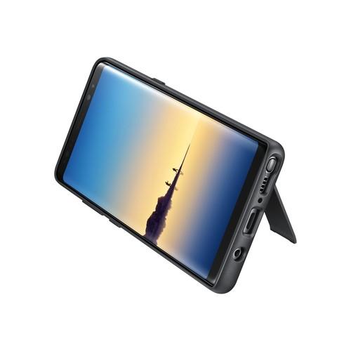 Samsung Protective Standing Cover EF-RN950 - Hintere Abdeckung für Mobiltelefon - Schwarz - für Galaxy Produktbild Front View L
