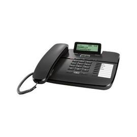 Gigaset DA810A - Telefon mit Schnur - Anrufbeantworter mit Rufnummernanzeige - Schwarz Produktbild